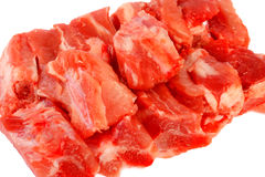 Rått av grisköttstöd på vit Royaltyfria Foton