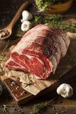 Rått gräs Fed Prime Rib Meat royaltyfria foton
