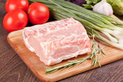 Rått kött för att laga mat Arkivfoto