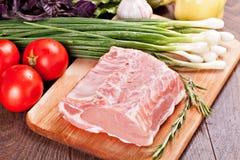 Rått kött för att laga mat Arkivfoton