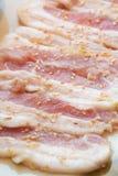 Rått kött för skiva Arkivbild