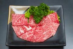 Rått kött för skiva Royaltyfri Foto