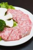 Rått kött för skiva Arkivfoto