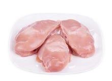 Rått kött i platta Arkivbild