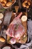 Rått lambben Arkivbild
