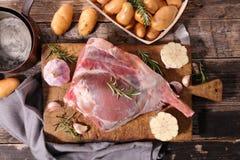 Rått lambben Royaltyfria Bilder