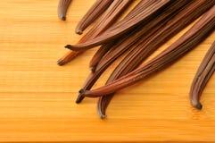 Rått materiel för foto för vaniljböna Royaltyfri Fotografi