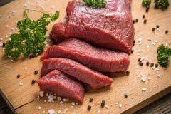 rått nötkött arkivbild