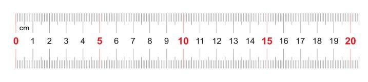 Règle de 200 millimètres Règle de 20 centimètres Grille de calibrage Division de valeur 1 millimètre Instrument de mesure bilatér