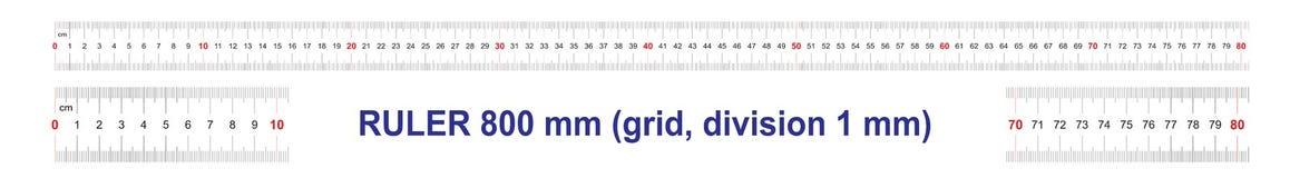 Règle de 800 millimètres Règle de 80 centimètres Grille de calibrage Division de valeur 1 millimètre Instrument de mesure bilatér
