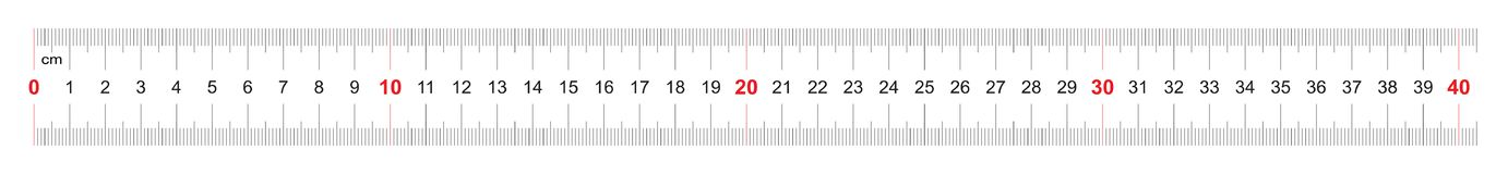Règle de 400 millimètres Règle de 40 centimètres Grille de calibrage Division de valeur 1 millimètre Instrument de mesure bilatér