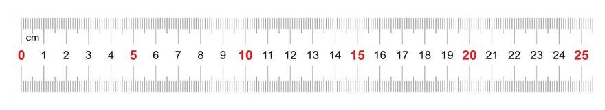 Règle de 250 millimètres Règle de 25 centimètres Grille de calibrage Division de valeur 1 millimètre Instrument de mesure bilatér