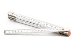 Règle de pliage avec l'échelle de centimètre photo stock