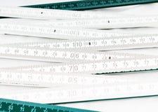 Règle de pliage blanche images libres de droits