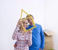 Règle de pliage de fixation de couples photos stock