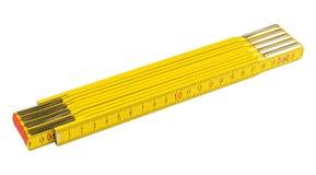 Règle de pliage jaune photos libres de droits
