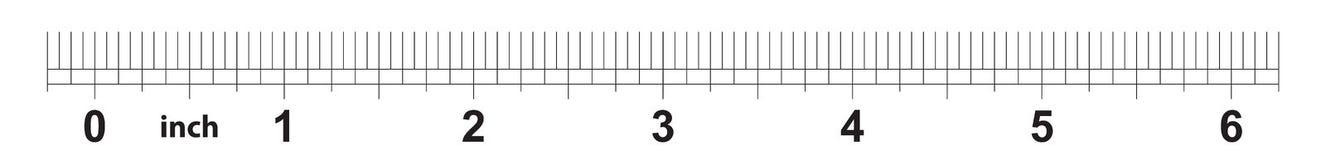 règle de 6 pouces L'exactitude de repérage est un seizième de pouce Grille impériale