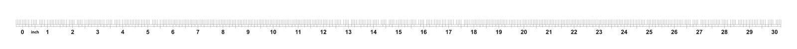règle de 30 pouces L'exactitude de repérage est un seizième de pouce Grille impériale