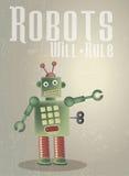 Règle de robots Images stock