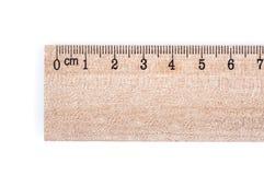 Règle en bois image stock