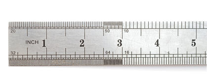 Règle en métal photos stock