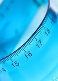 Règle transparente bleue Images libres de droits