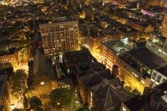 Règlement énorme de personnes d'en haut, NYC Photo stock