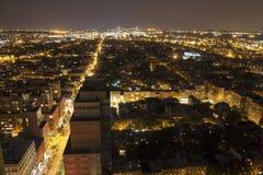 Règlement énorme de personnes d'en haut, NYC Photos stock