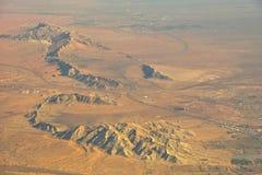 Règlement de désert de montagnes. Photos libres de droits