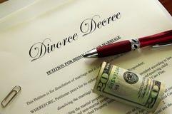 Règlement de divorce Photo libre de droits