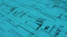 Règlement de l'espace de Sci fi, vue supérieure, illustration du rendu 3d, fond généré par ordinateur illustration stock