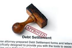 Règlement de la dette Images stock