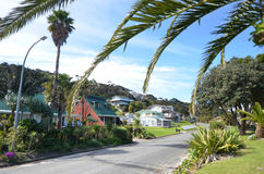 Règlement de Rangiputa en péninsule de Karikari - Nouvelle-Zélande Photos libres de droits
