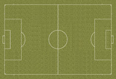 Règlement de terrain de football de terrain de football Photographie stock libre de droits
