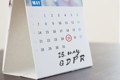 Règlement général de protection des données de GDPR photos stock