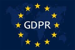 Règlement général GDPR de protection des données illustration de vecteur