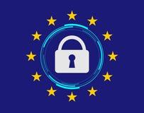 Règlement général GDPR de protection des données Photo stock