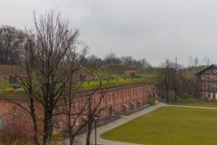 Règlement Grodzisko, un groupe de fort de fortifications du 19ème siècle Photographie stock