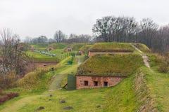 Règlement Grodzisko, un groupe de fort de fortifications du 19ème siècle Photos stock