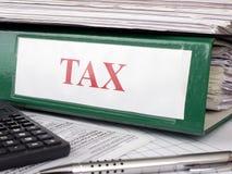 Règlements d'impôts Photographie stock libre de droits