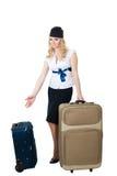 Règlements de taille de bagages d'aéroport image stock