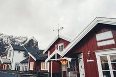 Règlements traditionnels de pêche des îles de Lofoten Bel aucun image stock