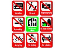 Règles d'attraction touristique Images libres de droits