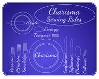 Règles de portion de charisme Photo stock