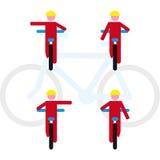 Règles de vélo Images libres de droits