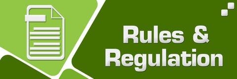 Règles et places arrondies par vert de règlements horizontales illustration stock