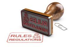 Règles et règlements au-dessus du fond blanc illustration libre de droits