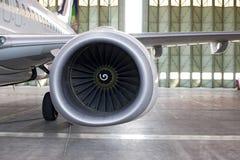 Réacteur aux aéronefs Photo libre de droits