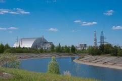 Réacteur nucléaire numéro 4 à Chernobyl Image stock