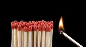 Réaction d'incendie. Photos libres de droits